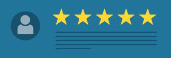 Google Bewertung mit Sternen und Kommentar